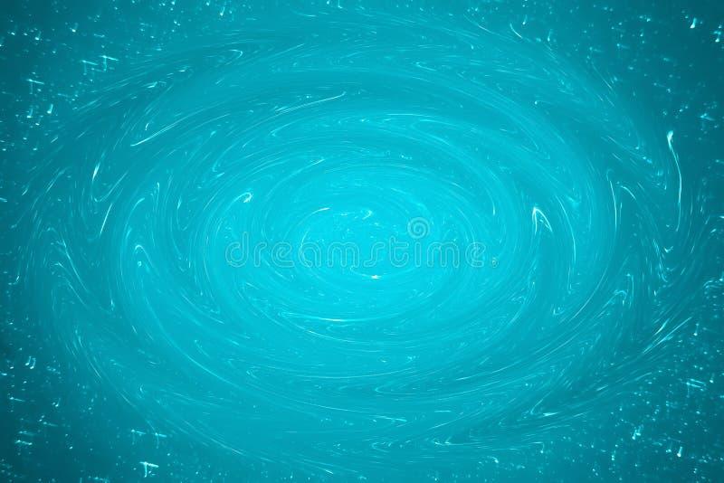 Bakgrund av en abstrakt blå virvel av målarfärg med glimt av ljus royaltyfri fotografi