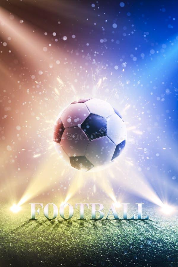 Bakgrund av en fotbollkopp 2018 Fotboll för världsmästerskapbakgrund panorama vertikalt stock illustrationer