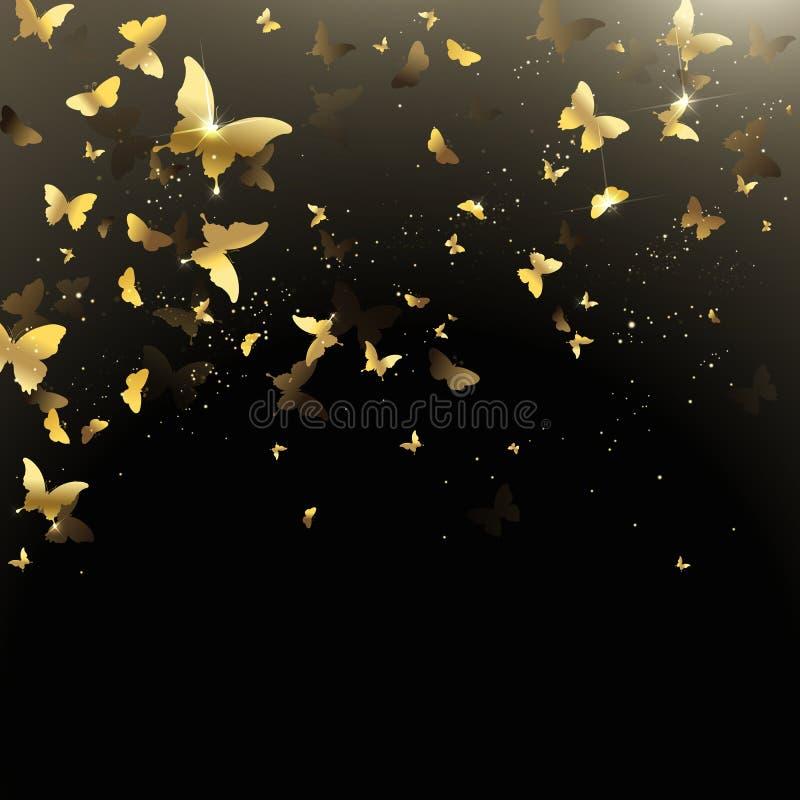 Bakgrund av fjärilskonfettier royaltyfri illustrationer