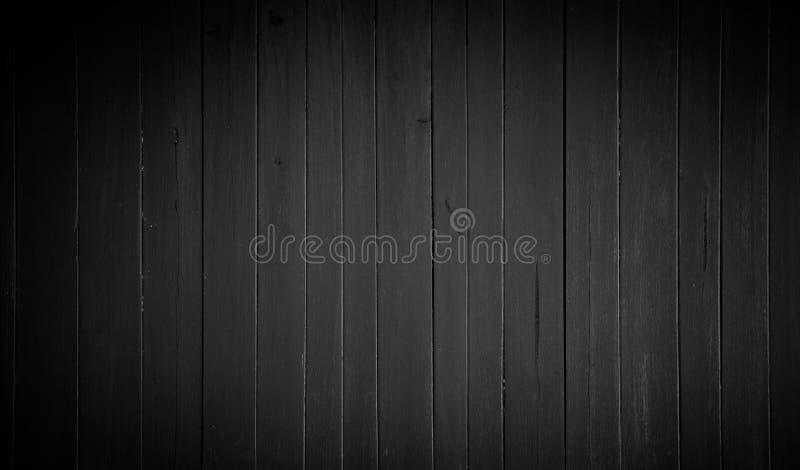 Bakgrund av gammal wood textur för mörk svart arkivbilder