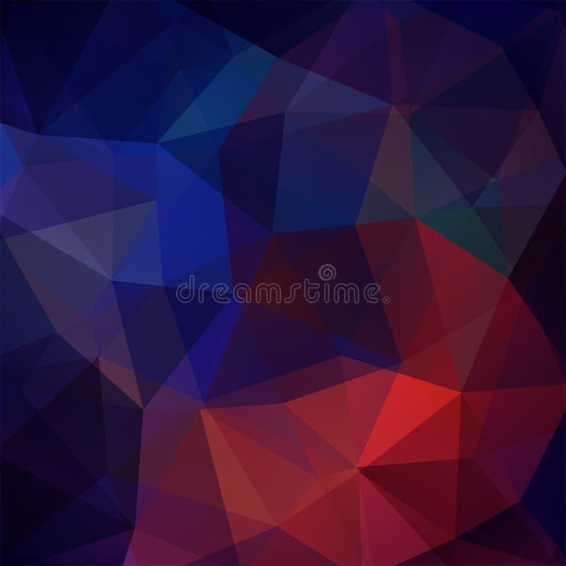 Bakgrund av geometriska former färgrik mosaikmodell vektor stock illustrationer