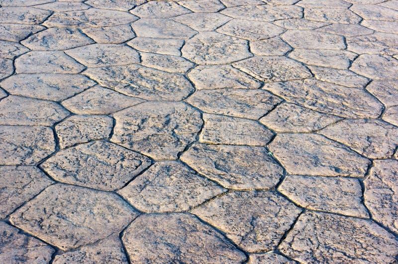 Bakgrund av golvet av förberedande stenar arkivbilder