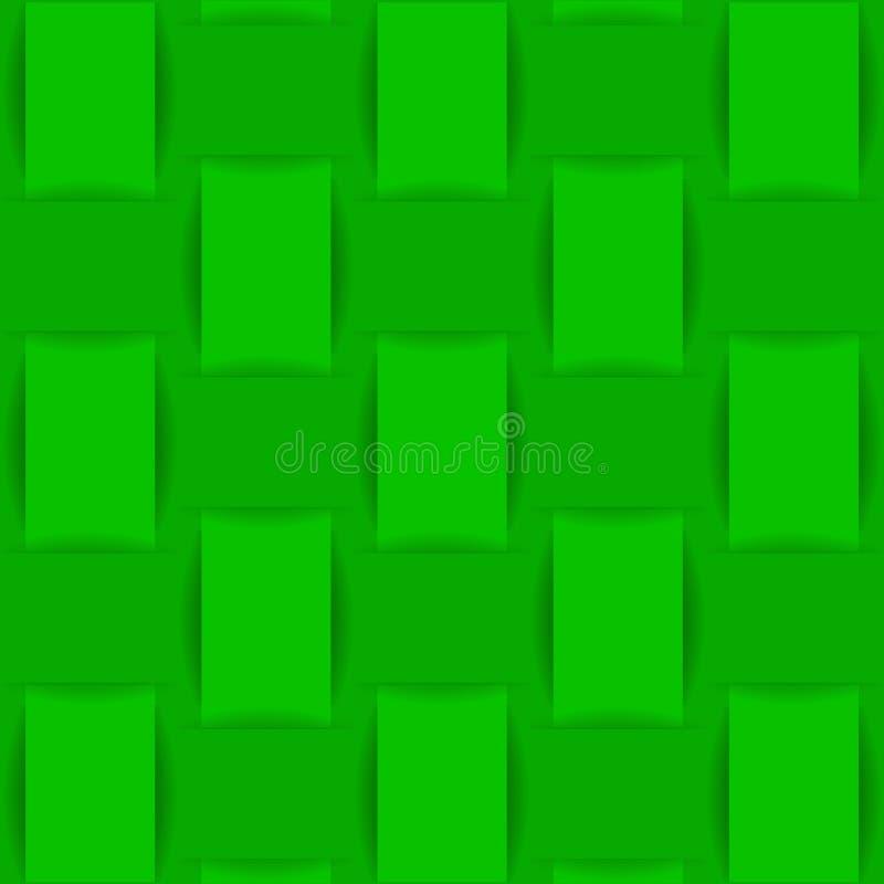 Bakgrund av grönt vävt tyg eller papper vektor illustrationer