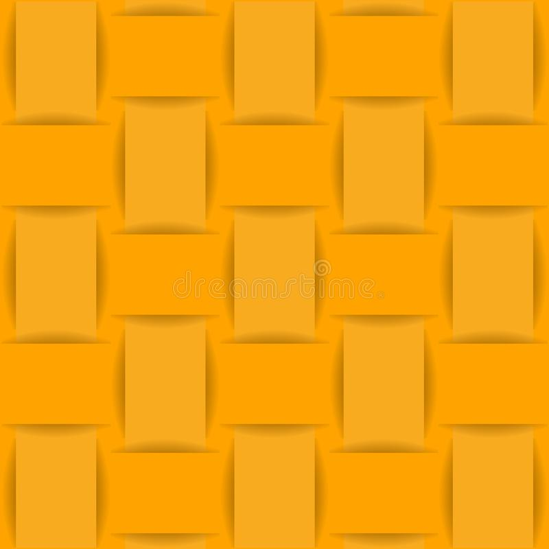 Bakgrund av gult eller vävt tyg, papper vektor illustrationer