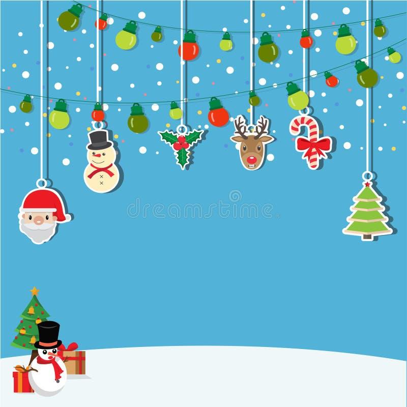 Bakgrund av hängande jul stock illustrationer