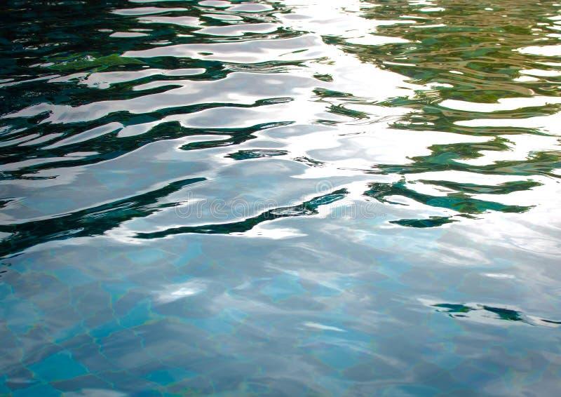 Bakgrund av krusigt vatten i simbassäng royaltyfri foto