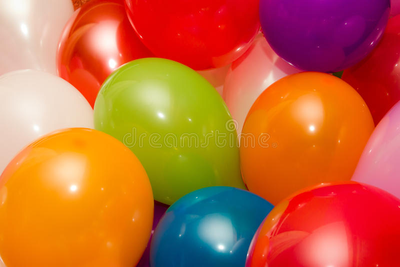 Bakgrund av kulöra baloons royaltyfria foton