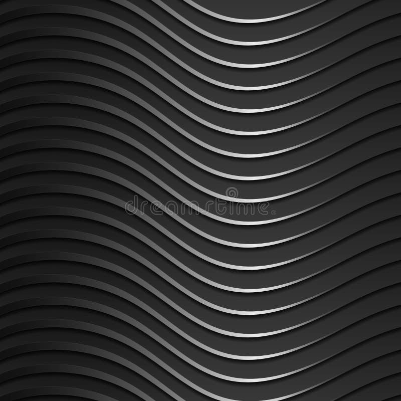 Bakgrund av mörker, metalliska, skinande krabba musikband Modern stil 3d Tapet för websiten royaltyfri illustrationer