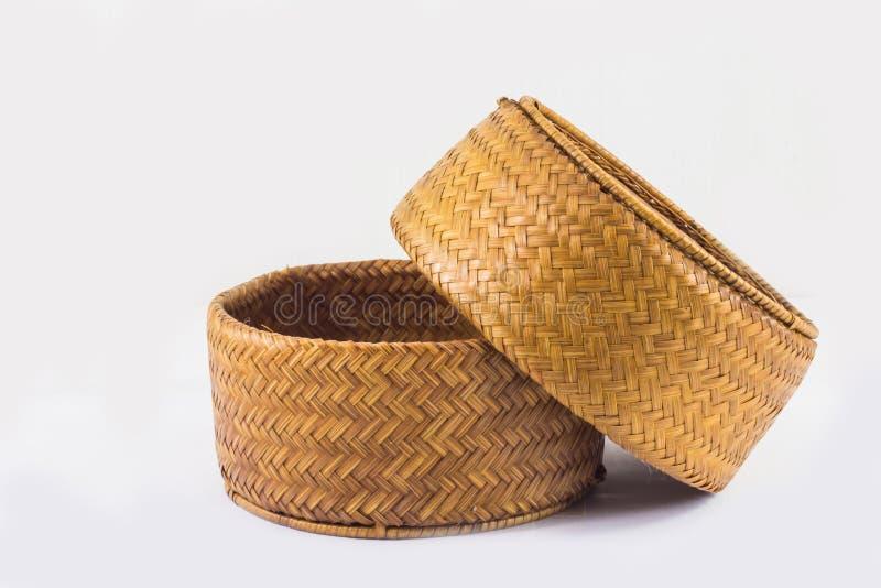 Bakgrund av objekt, ris Kratib det hemslöjd från Thailand royaltyfri bild