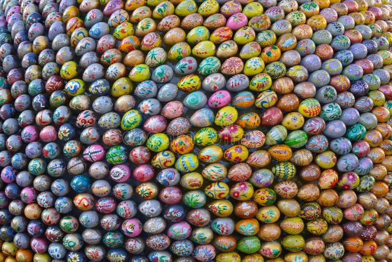 Bakgrund av påskägg arkivfoto