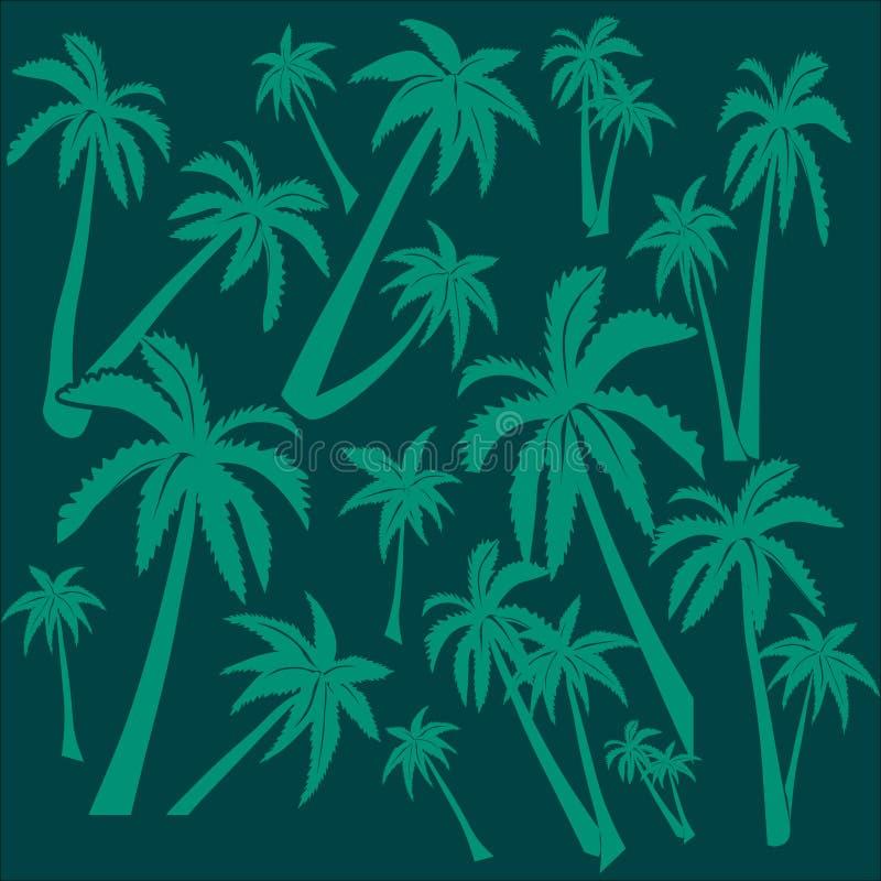 Bakgrund av palmträd stock illustrationer