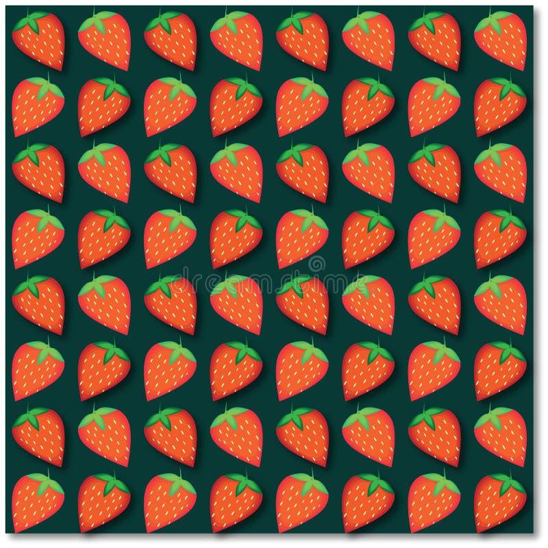 Bakgrund av röda jordgubbar arkivbild