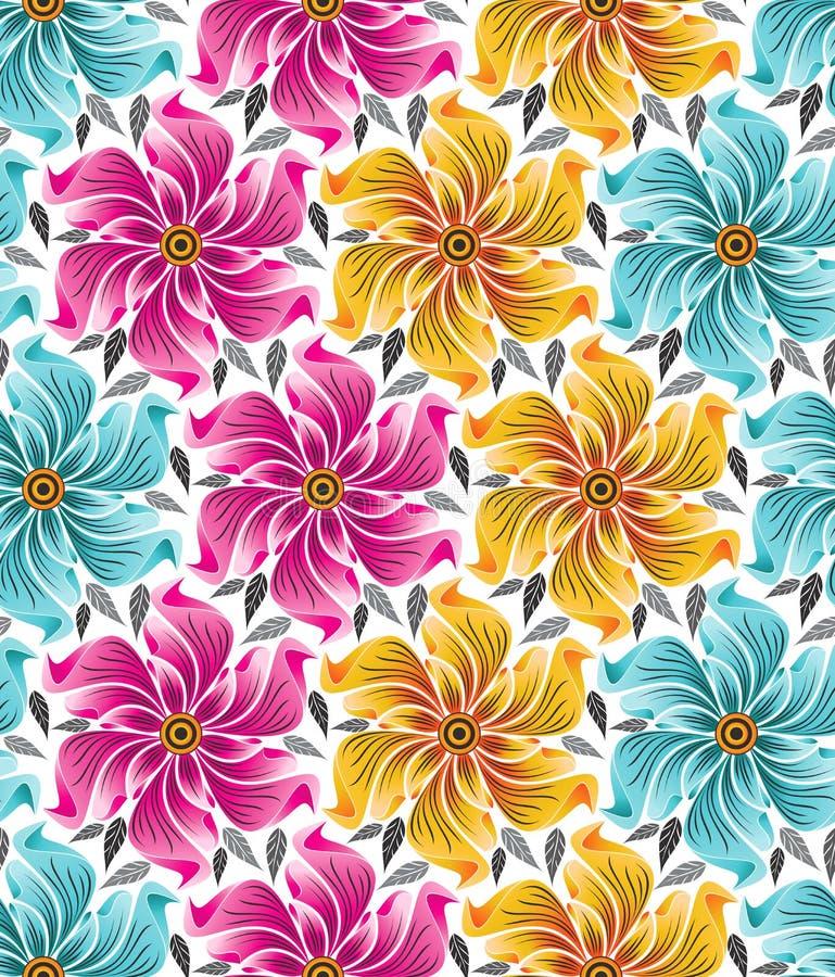 Bakgrund av seamless blommor för torkdukar stock illustrationer