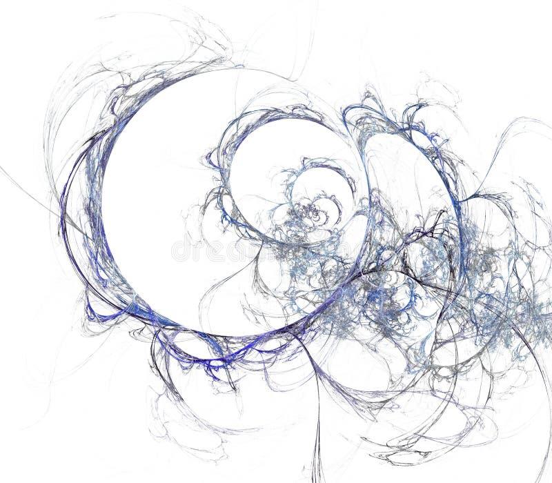 Bakgrund av slumpmässiga fractallinjer arkivbild
