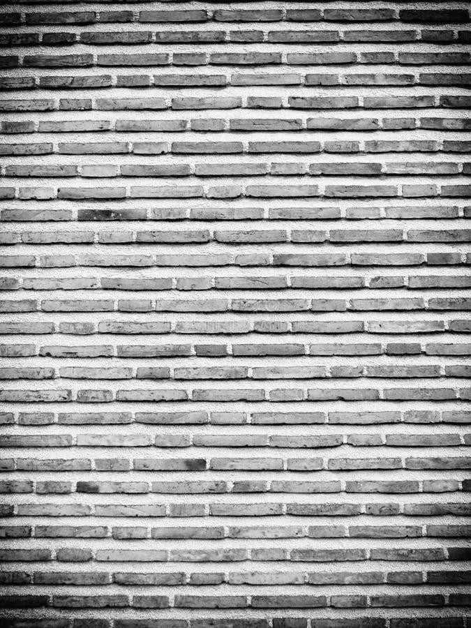 Bakgrund av svart vit textur för tegelstenvägg arkivbilder