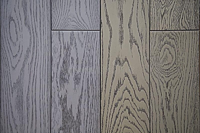 Bakgrund av trätextur som målas i grå och blå ton royaltyfria foton