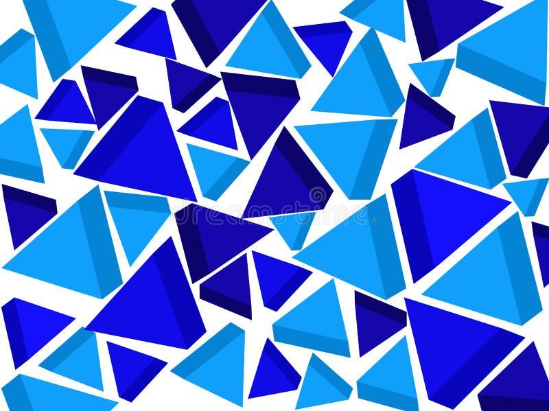 Bakgrund blåa trianglar vektor vektor illustrationer