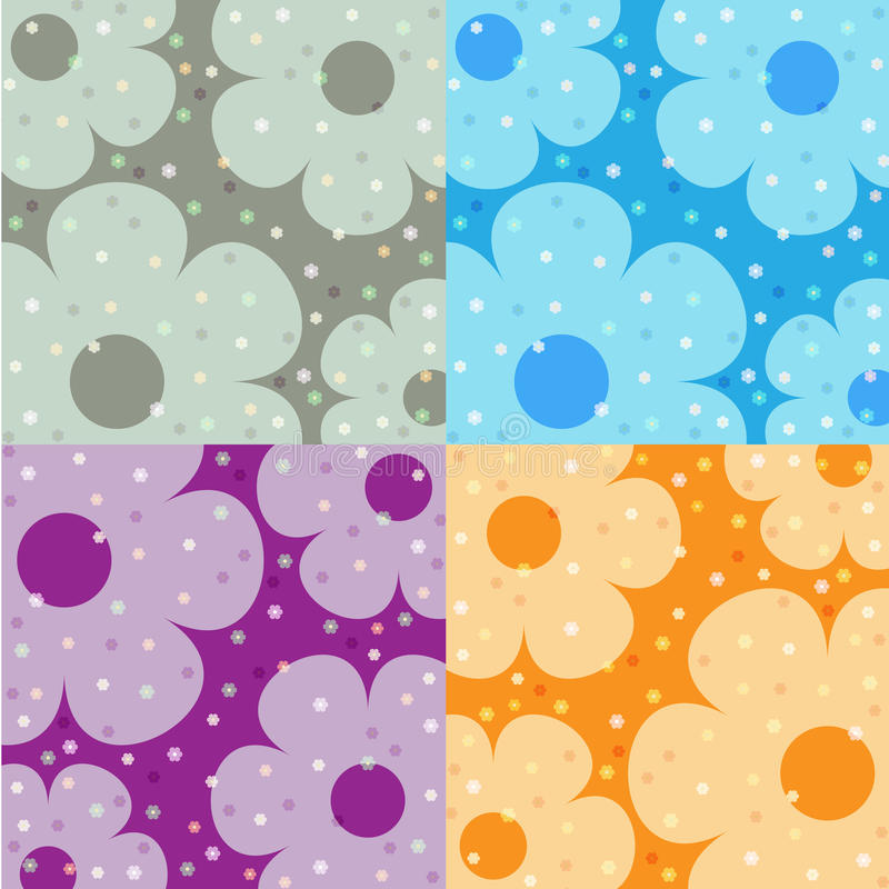 bakgrund blom- fyra stock illustrationer