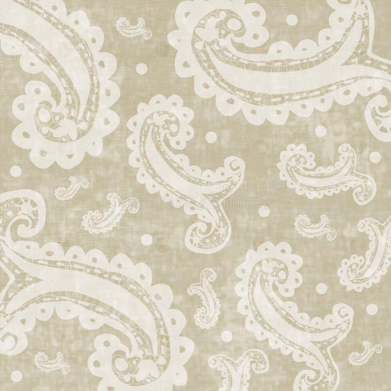 bakgrund blom- zigenska paisley royaltyfri illustrationer
