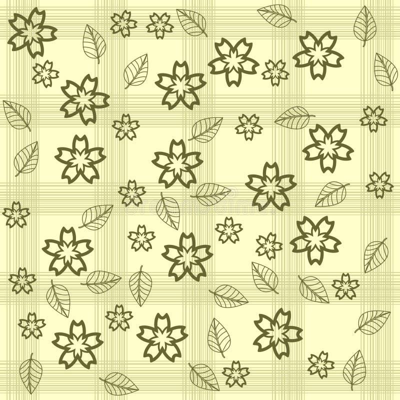bakgrund blommar leaves royaltyfri illustrationer