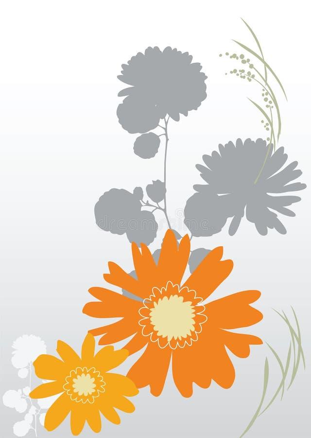 bakgrund blommar orangen vektor illustrationer