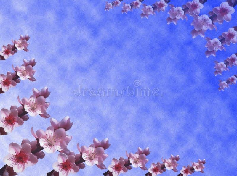 bakgrund blommar persikan royaltyfri illustrationer