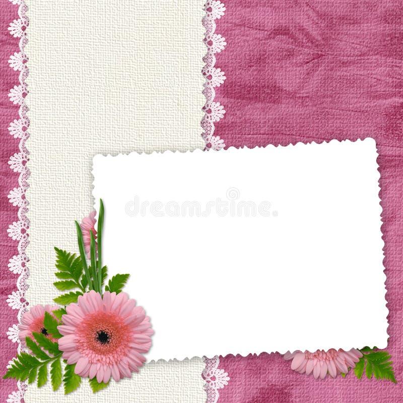 bakgrund blommar rampink stock illustrationer