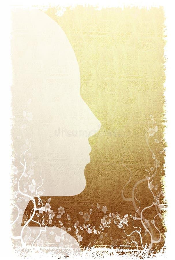 bakgrund blommar silhouetten vektor illustrationer