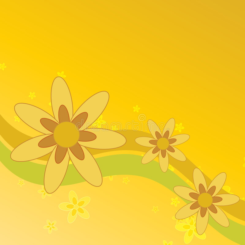 bakgrund blommar sommar vektor illustrationer