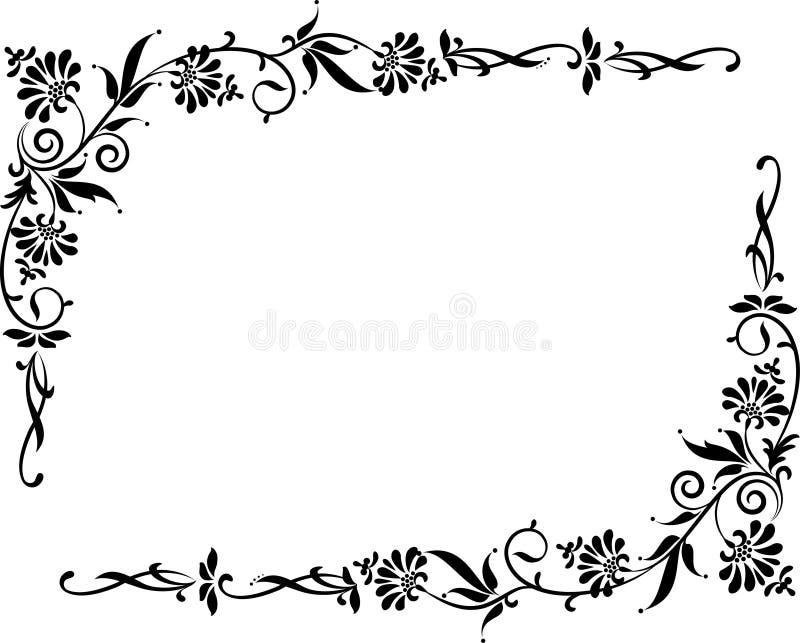 bakgrund blommar tappning stock illustrationer
