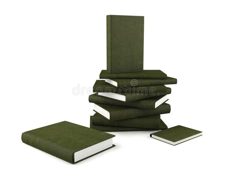 bakgrund books bland annat isolerad banastapelwhite vektor illustrationer
