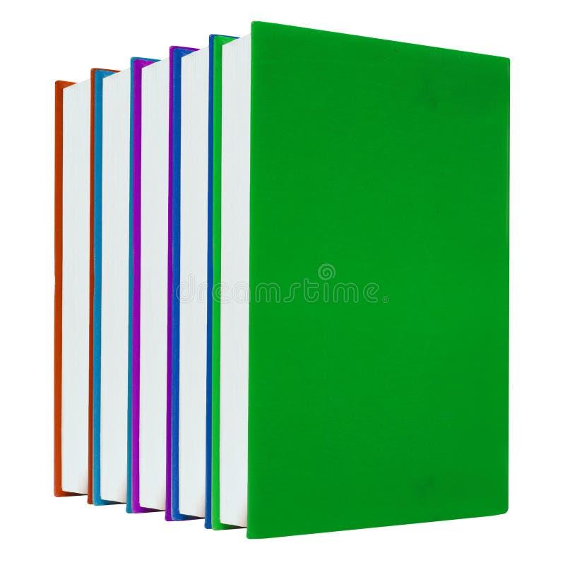 bakgrund books färgrik white royaltyfri foto