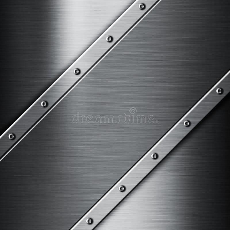 bakgrund borstad metall vektor illustrationer