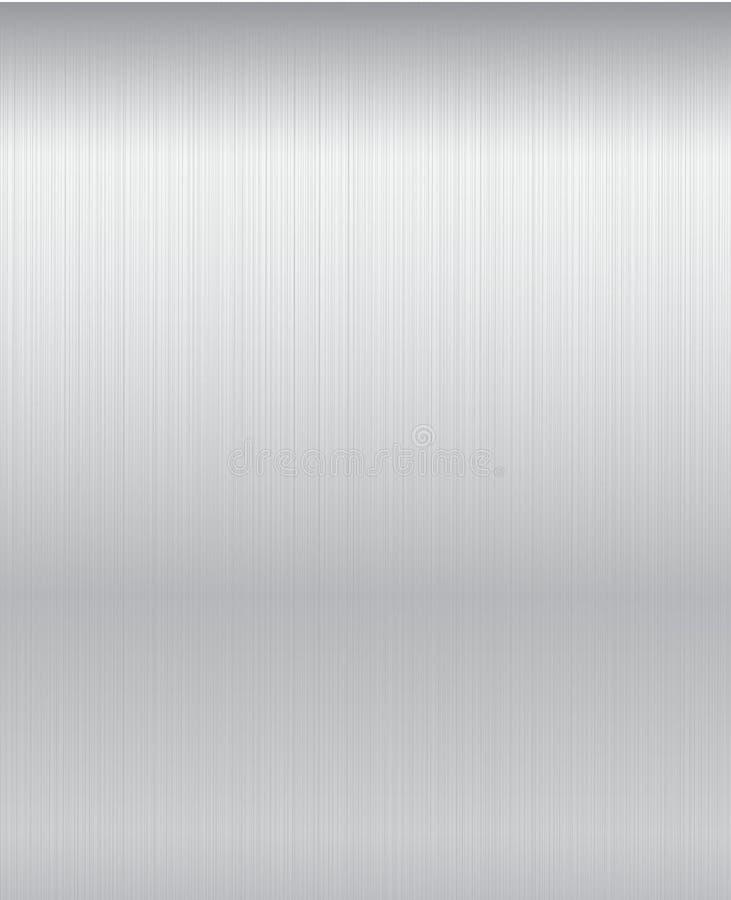 bakgrund borstad metallplatta stock illustrationer