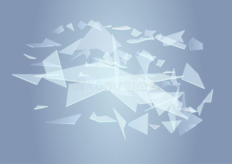 bakgrund brutet exponeringsglas royaltyfri illustrationer