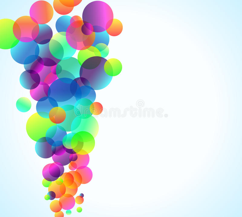 bakgrund bubbles den eleganta reklambladregnbågen stock illustrationer