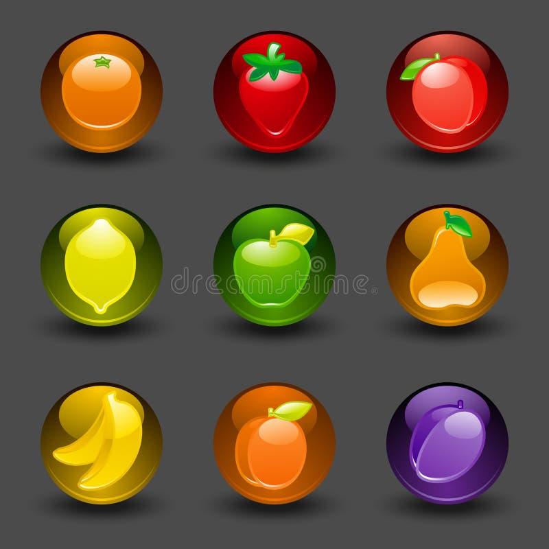 bakgrund buttons mörk fruktskugga vektor illustrationer