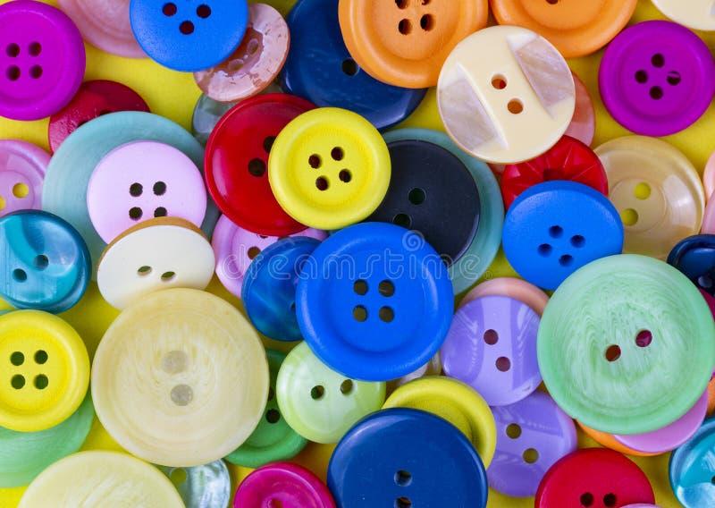 bakgrund buttons sömnad Färgrik sömnadknapptextur royaltyfri fotografi