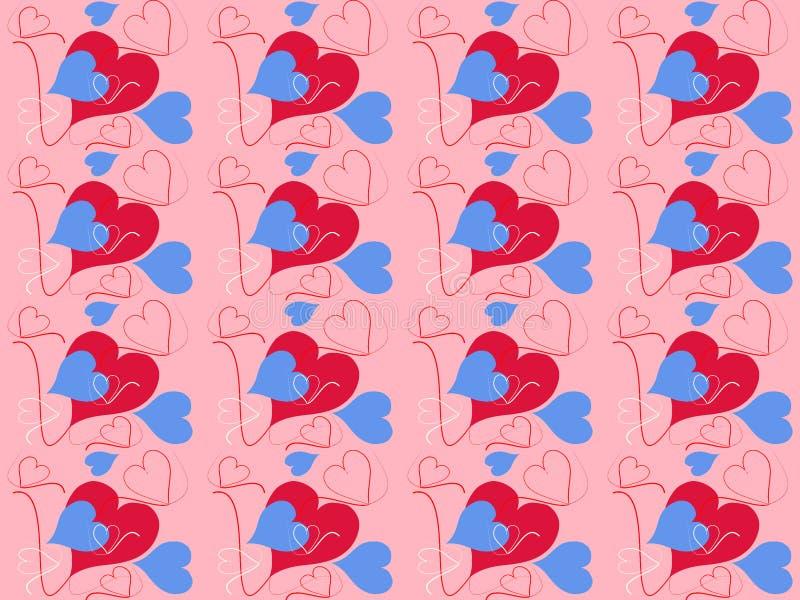 bakgrund cards för dräktvalentinen för hjärtor seamless wallpapers gott royaltyfria bilder