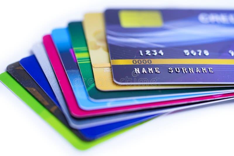 bakgrund cards krediteringswhite royaltyfri foto