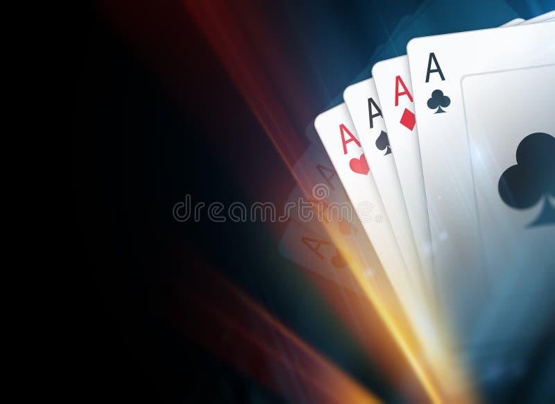 bakgrund cards poker stock illustrationer