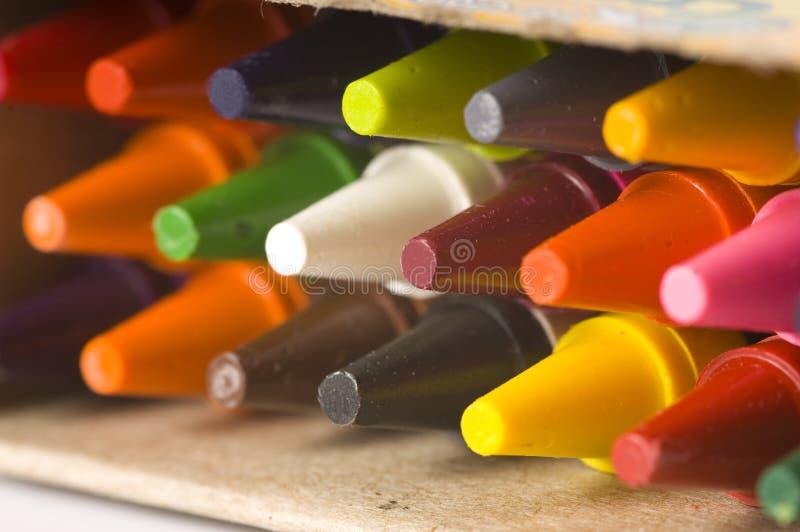 bakgrund crayons nytt royaltyfri bild