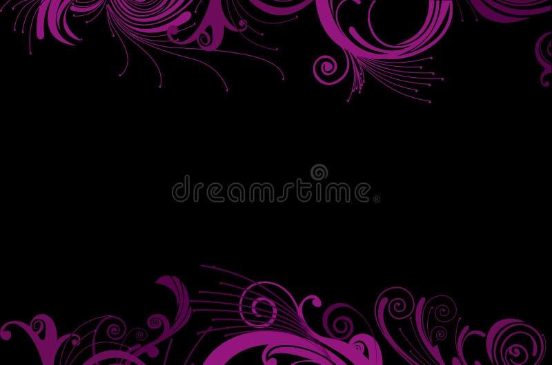 bakgrund curves ramglamourpurple royaltyfri illustrationer