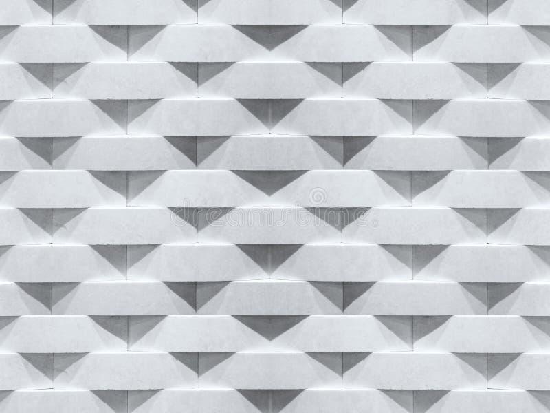 bakgrund 3d framför texturväggen Geometrisk modell för kurvstentegelsten royaltyfria foton