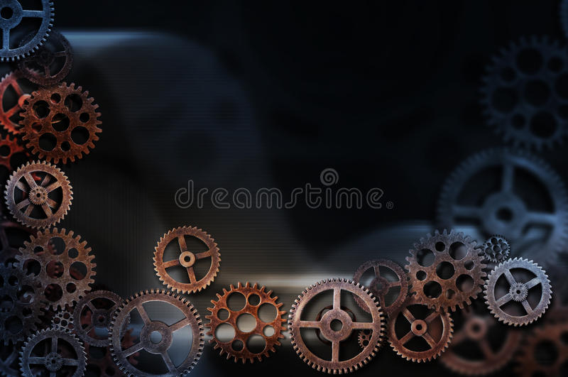 bakgrund 3d gears white royaltyfri illustrationer