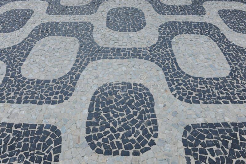bakgrund de ipanema janeirorio trottoar fotografering för bildbyråer