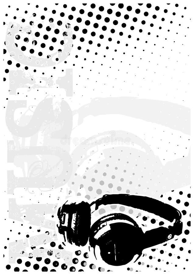 bakgrund dj dots affischen stock illustrationer