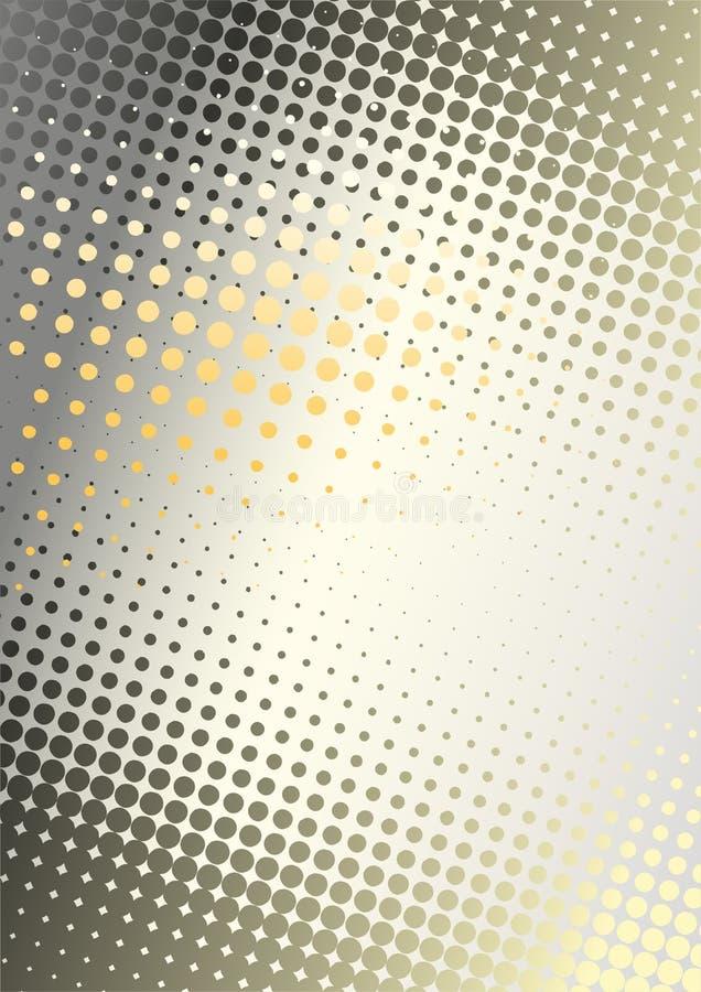bakgrund dots metallorangen royaltyfri illustrationer