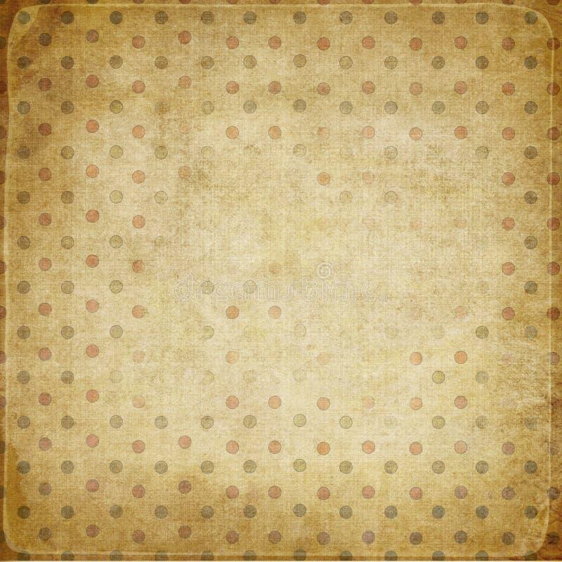 bakgrund dots tappning royaltyfri illustrationer