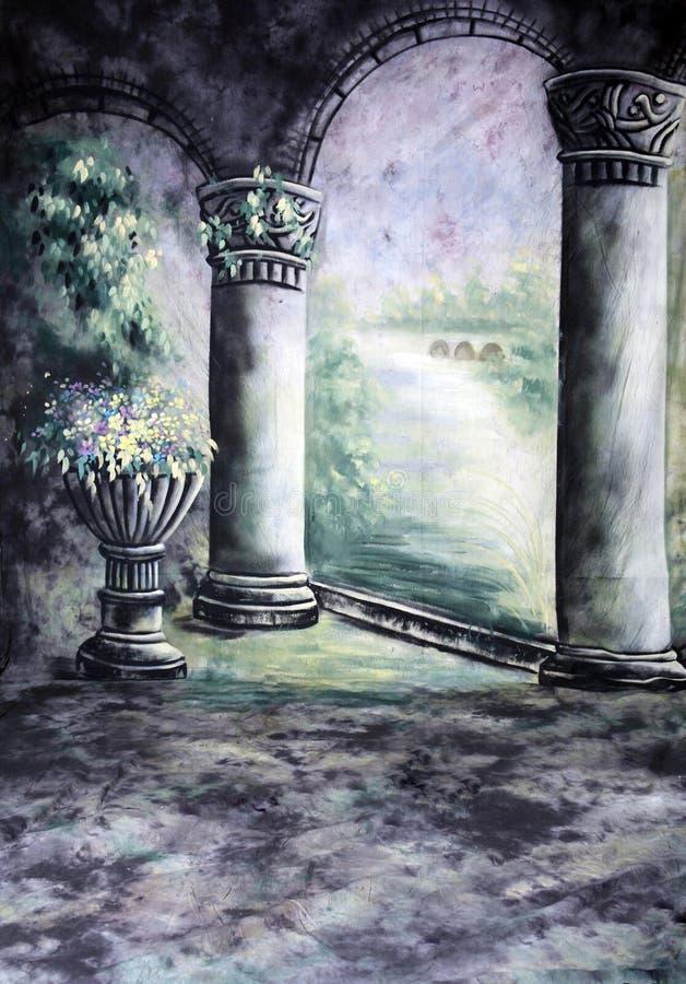 bakgrund draperad muslinfotografistudio royaltyfri illustrationer